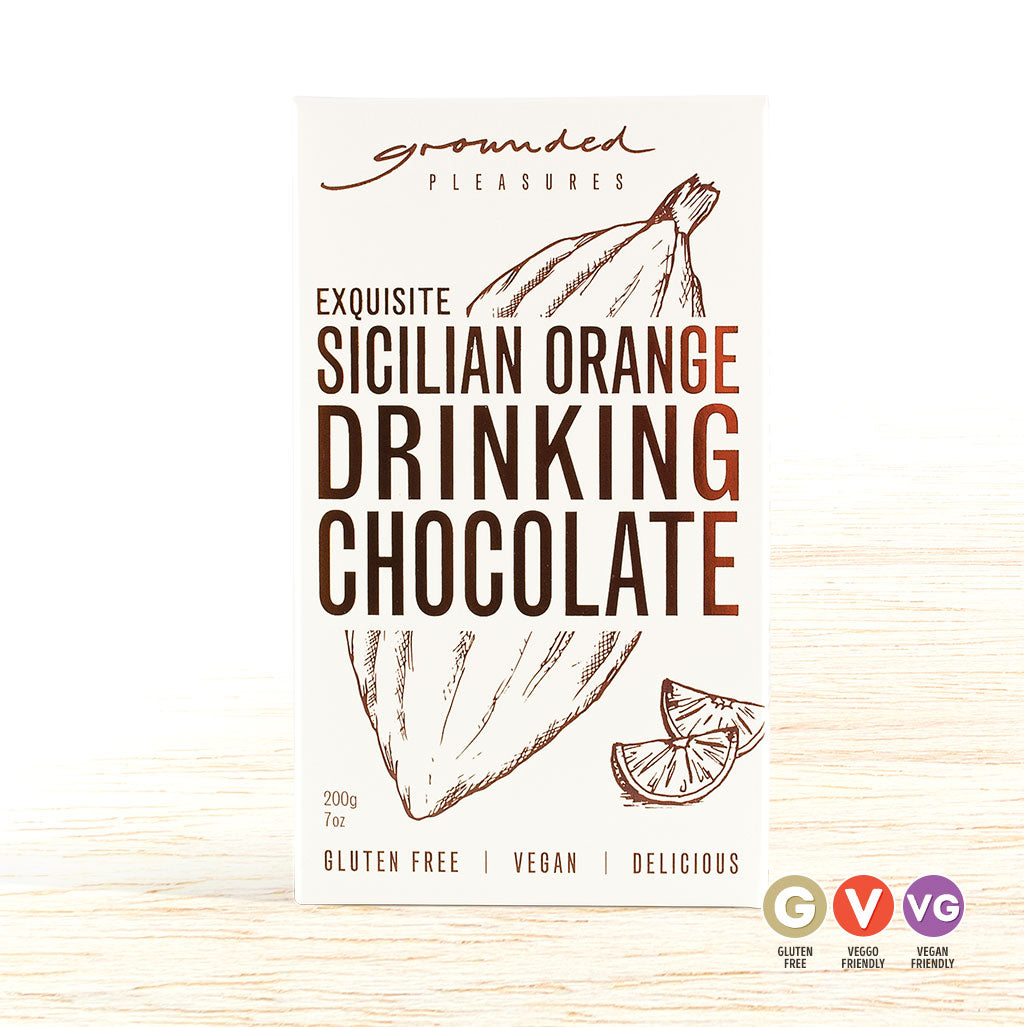 Grounded Pleasures Drinking Chocolate - Sicilian Orange - Organic Food Delivered - Oliver's Real Food