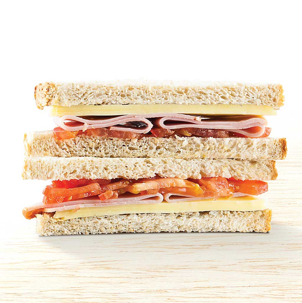 Ham, Cheese & Tomato Sandwich - Organic Food Delivered - Oliver's Real Food