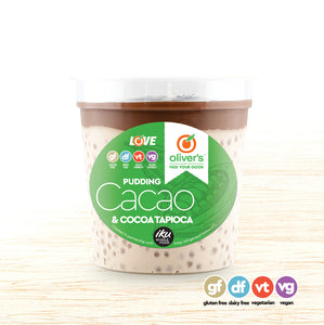 Cacao and Cocoa Tapioca Pudding