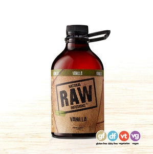 Coffee Syrup - Natural Raw Infusions Vanilla