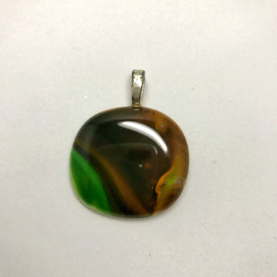 HONU - recycled beach glass pendant