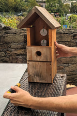 Opening a nest box