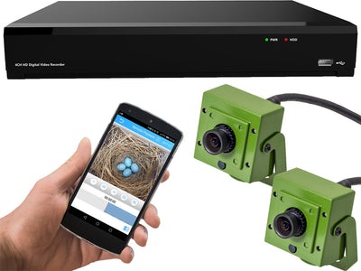 Aviary Camera Kit with 2 1080p HD IP Cameras and NVR