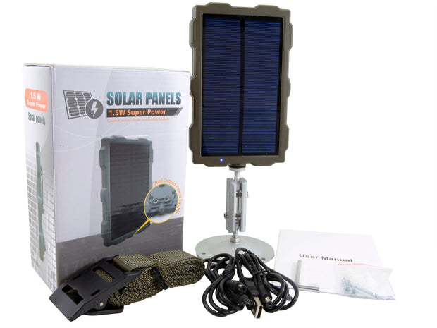 Solar Panel Rechargeable Battery Supply Power for Trail Cameras