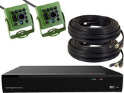 2 Camera 1080p HD Wired Nest Box Camera Recording DVR Kit