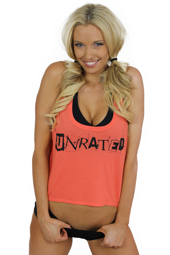 """UNRATED"" Boxy Tank In Coral"