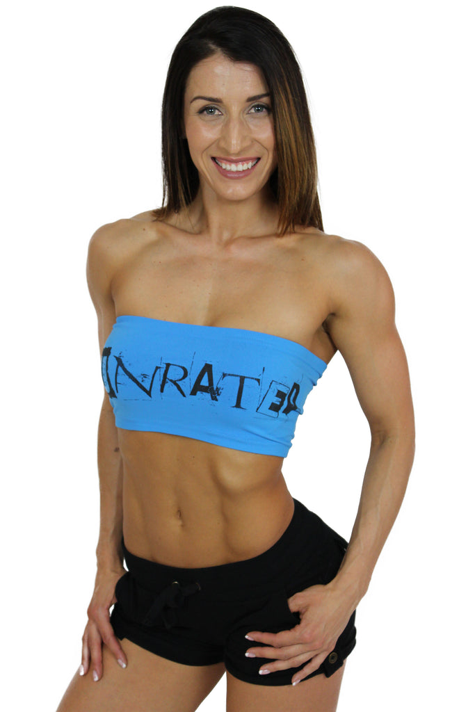 """UNRATED"" Graffiti Tube Top In Dazzling Blue!"