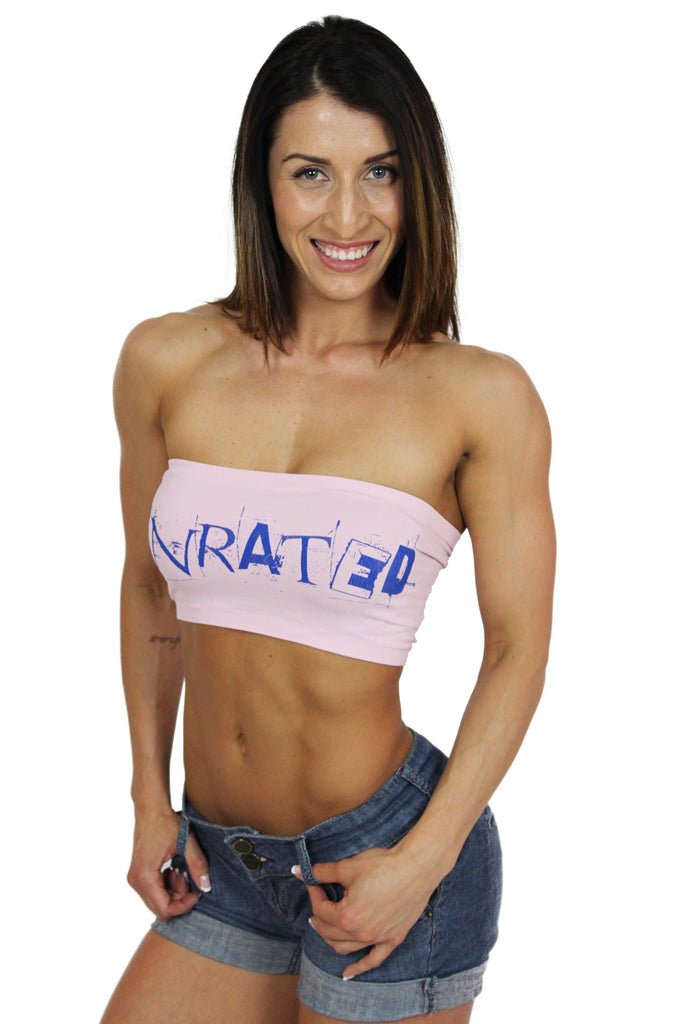 """UNRATED"" Graffiti Tube Top In Pink!"
