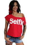 Selfie Shirt In Red
