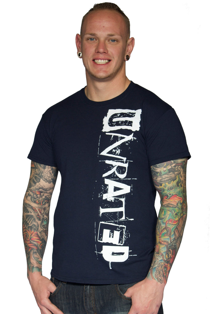 "Men's ""UNRATED"" Sport T-Shirt In Navy"