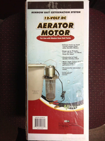 Bait Tank Aerator 12 v. Proffessional high capacity