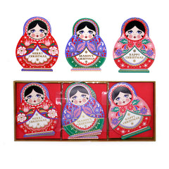 Matryoshka Trio Cards (Pack of 12)
