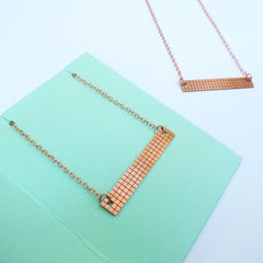 Grid Necklace Copper