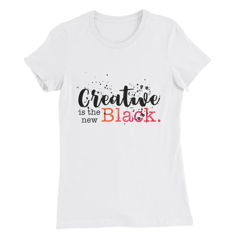 """Creative is the New Black"" Semi-Relaxed Women's Tee, Short Sleeve T-Shirt, The Artistic Soul Inspiration Shop, The Artistic Soul Inspiration Shop,  - The Artistic Soul Inspiration Shop"