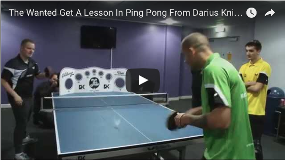 The Wanted - Get a lesson in ping pong from DK