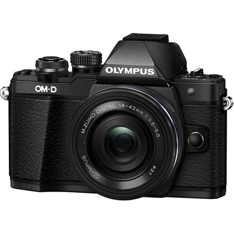 Olympus OM-D E-M10 II Digital Camera with 14-42mm EZ Lens (Black/Silver) - instashot Camera Store