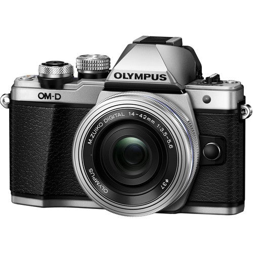Olympus OM-D E-M10 II Digital Camera with 14-42mm EZ Lens (Black/Silver) -  instashot