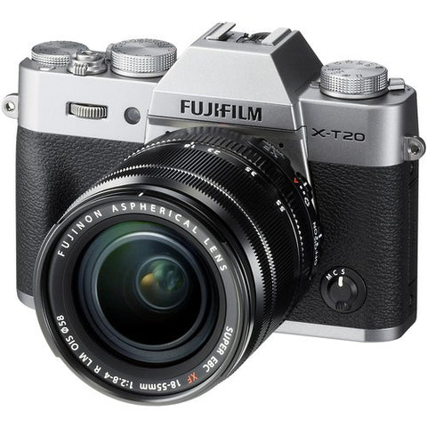Fujifilm X-T20 Mirrorless Digital Camera with 18-55mm Lens (Black/Silver) -  instashot