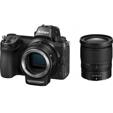Nikon Z6 Mirrorless Digital Camera with 24-70mm Lens and FTZ Mount Adapter Kit -  instashot