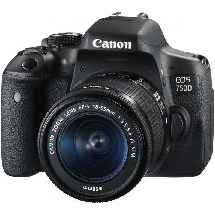 Canon EOS 750D DSLR Camera with Canon EF-S 18-55mm f/3.5-5.6 IS STM Lens Kit -  instashot