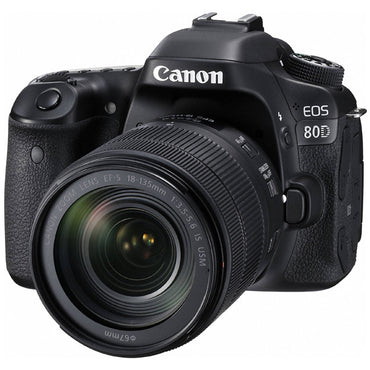 Canon EOS 80D DSLR Camera with Canon EF-S 18-135mm f/3.5-5.6 IS USM Lens Kit - instashot Camera Store