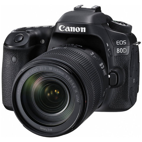 Canon EOS 80D DSLR Camera with Canon EF-S 18-135mm f/3.5-5.6 IS USM Lens Kit -  instashot