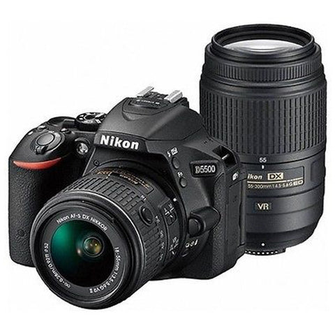 Nikon D5500 DSLR Camera with Nikon AF-S 18-55mm G VR II &  AF-S 55-300mm VR Kit -  instashot