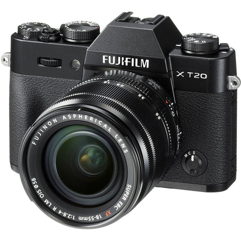 Fujifilm X-T20 Mirrorless Digital Camera with 18-55mm Lens (Black/Silver) - instashot Camera Store