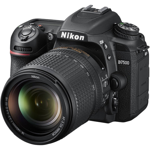 Nikon D7500 Digital SLR Camera with Nikon AF-S 18-140mm VR Lens Kit -  instashot