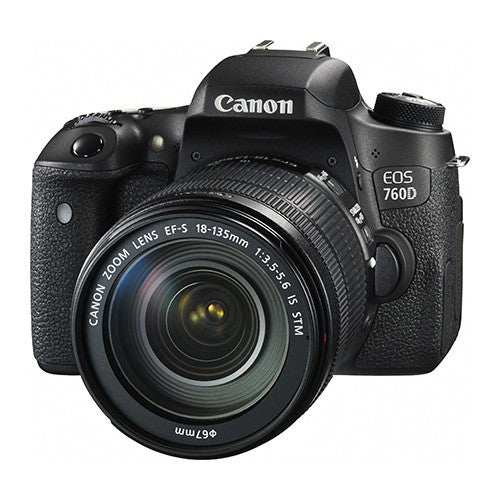 Canon EOS 760D DSLR Camera with Canon EF-S 18-135mm f/3.5-5.6 IS STM Lens Kit - instashot Camera Store