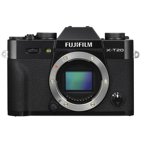 Fujifilm X-T20 Mirrorless Digital Camera Body (Black/Silver) - instashot Camera Store