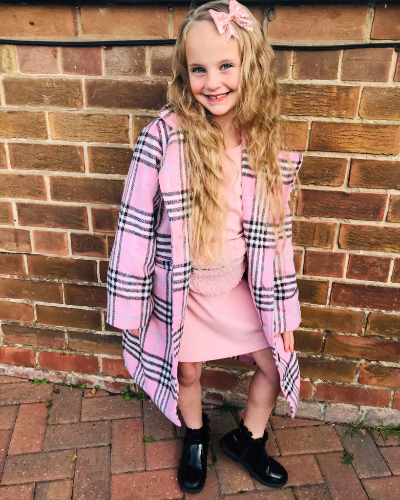 Pink Plaid Coat