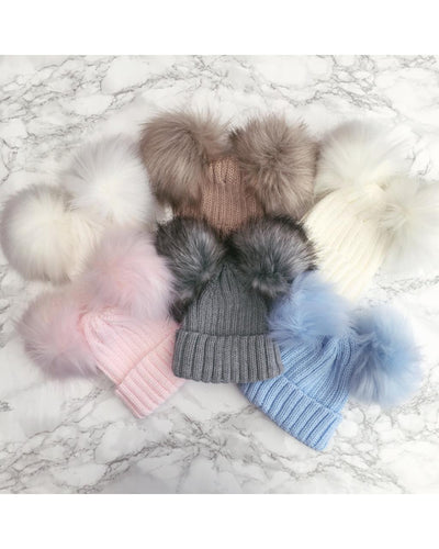 Kinder Double Pom Hats-Hats-Children-Clothing-Cutsie Bobbs