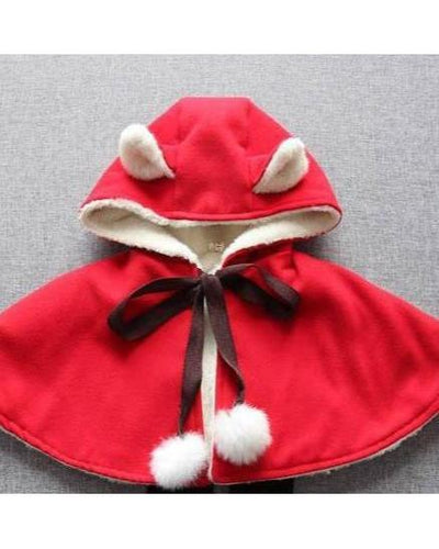 Little Red Cape with Ears-Christmas-Children-Clothing-Cutsie Bobbs