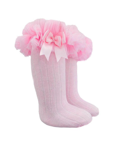 Pink Long Tutu Socks-Socks-Children-Clothing-Cutsie Bobbs