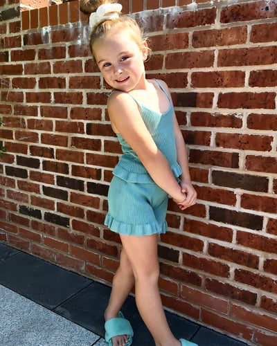Rib Knit Shorts Set-Shorts Sets-Children-Clothing-Cutsie Bobbs