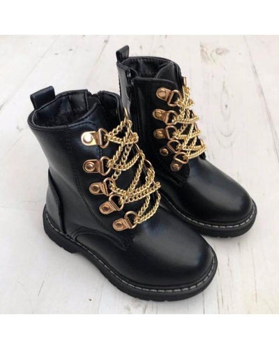 Rockstar Chain Boots-Boots-Children-Clothing-Cutsie Bobbs