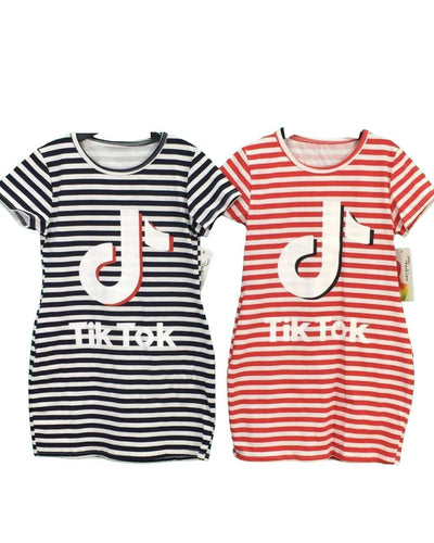 Tik Tok Stripe Dress-Tik Tok-Children-Clothing-Cutsie Bobbs