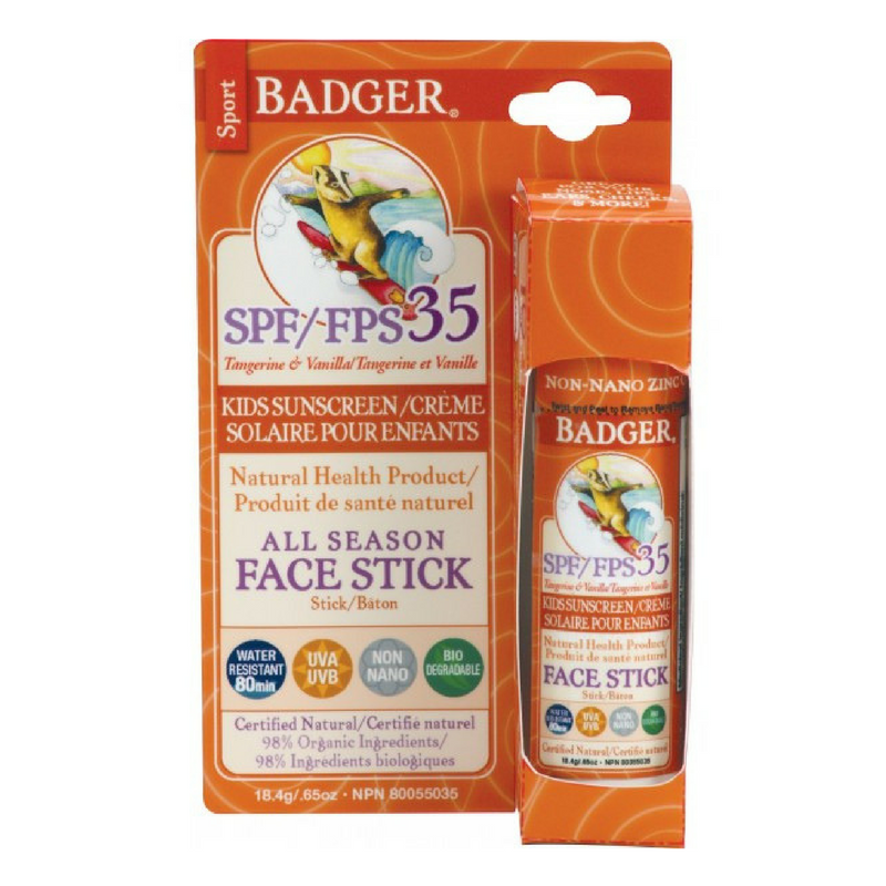 Badger - All Season Face Stick Kids Sunscreen SPF 35 (.65oz) Badger Body Care- Oma Wellness Store