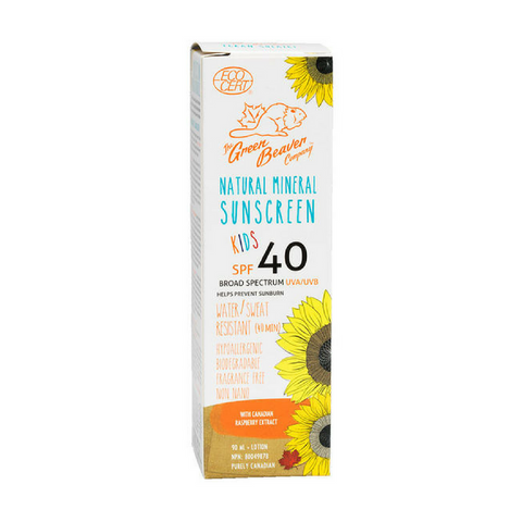 Green Beaver - Mineral Sunscreen for Kids 40SPF (90ml)