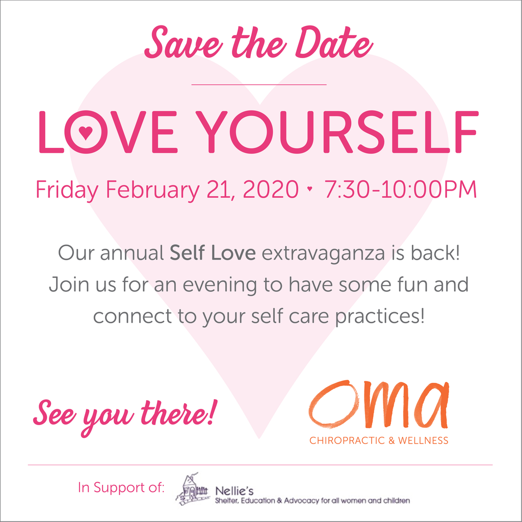 LOVE YOURSELF EVENT Friday February 21st 7:30pm - 10pm - ATTENDING EVENT Oma Wellness Store - Oma Wellness Store