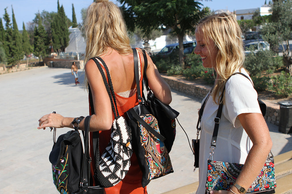 Bags Of Hope designer and model in Ibiza
