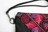 Bag Of Hope mini BOH pink embroidered pouch purse close up strap detail