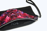 Bag Of Hope mini BOH pink embroidered pouch purse waist bag inside close up zip detail