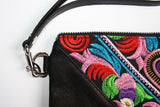 Bag Of Hope mini BOH multicolour embroidered pouch purse waist bag strap detail