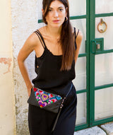 Bag Of Hope mini BOH multicolour embroidered pouch purse waist bag on model