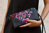 Bag Of Hope mini BOH multicolour embroidered pouch purse waist bag close up