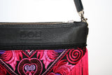 Bag Of Hope BOH pink tassel embroidered waist bag leather shoulder bag detail