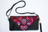 Bag Of Hope mini BOH pink embroidered pouch purse waist bag front view flat
