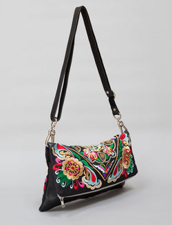 BOH Square flower handbag fold over clutch